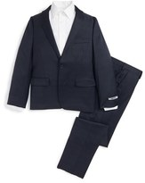 DKNY Boy's Plaid Wool Suit