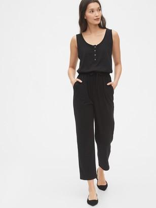 Gap Henley Knit Jumpsuit