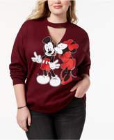 Hybrid Plus Size Mickey & Minnie Mouse Sweatshirt