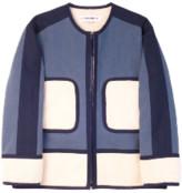 Lf Markey LF Markey - Blue Gordon Coat - cotton   denim blue   ecru   Sz M/L