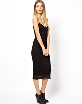 Asos Lace Cami Dress - Black