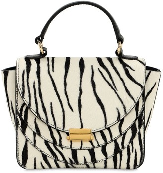 Wandler Mini Luna Zebra Printed Leather Bag