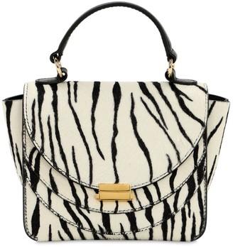 Wandler Mini Luna Zebra Printed Leather Bag