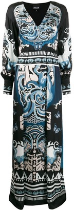 Just Cavalli ornate-print V-neck maxi dress
