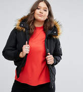 Koko Plus Jacket With Faux Fur Collar