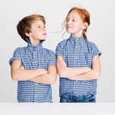 J.Crew Kids' short-sleeve Secret Wash shirt in gingham