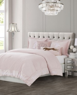 Juicy Couture Velvet 3-Piece Queen Comforter Set Bedding