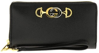 Gucci Wallet Continental Wallet In Hammered Leather With Bicolor Gg Monogram