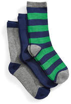 Jack & Jill 3 Pack Assorted Crew Socks