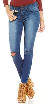 YMI Jeanswear Super Soft Frayed Hem Skinny Jean