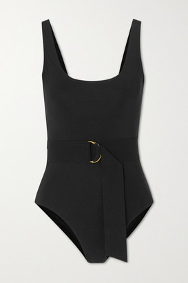 Karla Colletto Angelina Belted Underwired Swimsuit - Black
