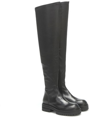 Ann Demeulemeester Leather over-the-knee boots