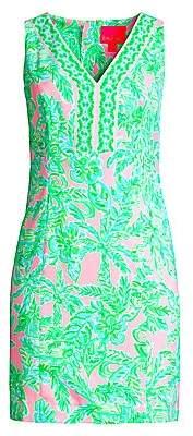 Lilly Pulitzer Women's Vivian Tropical Floral-Print Shift Dress