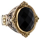 Konstantino Faceted Black Onyx Ring