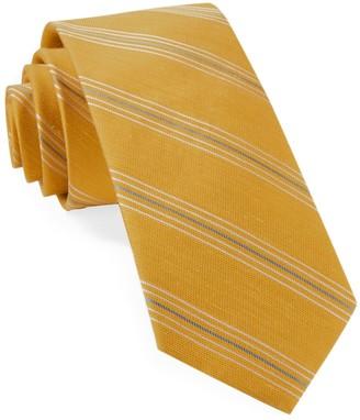 Tie Bar Derby Lane Stripe Mustard Tie