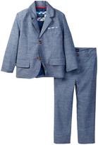 Andy & Evan Blue Chambray Blazer & Pant Set (Toddler & Little Boys)