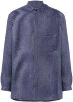 Yohji Yamamoto woven stripe shirt - men - Linen/Flax - M