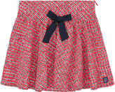 Jean Bourget Printed poplin skirt