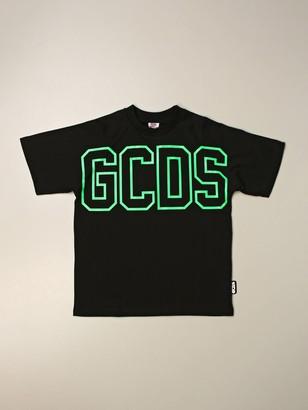 GCDS Cotton T-shirt With Logo Print