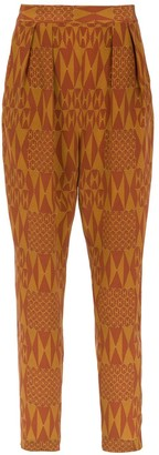 Andrea Marques Printed Silk Pants