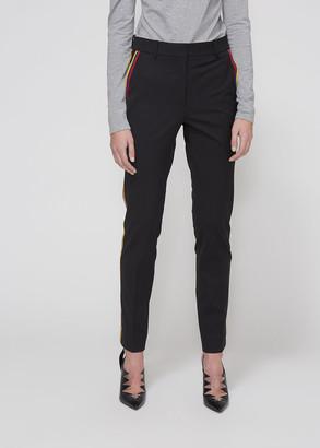 Calvin Klein Women's Wool Trouser Pants in Black Size 38 Virgin Wool/Polyamide/Elastane