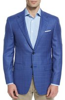 Canali Sienna Contemporary-Fit Textured Sport Coat, Light Blue