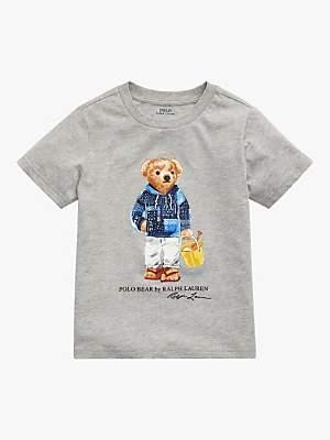 Ralph Lauren Polo Boys' Bear T-Shirt, Grey