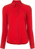 Derek Lam Long Sleeve Button-Down Shirt With Contrast Topstitch