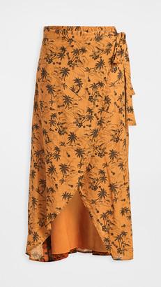 James Perse Island Print Wrap Skirt