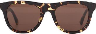 Bottega Veneta Spotted Havana Wayfarer Sunglasses