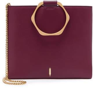 THACKER Le Pouch Leather Hexagon Handle Crossbody Bag