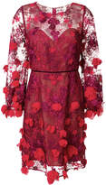 Marchesa embroidered floral mini dress