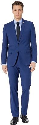 Nick Graham Blue Check Suit (Blue/Brown) Men's Suits Sets