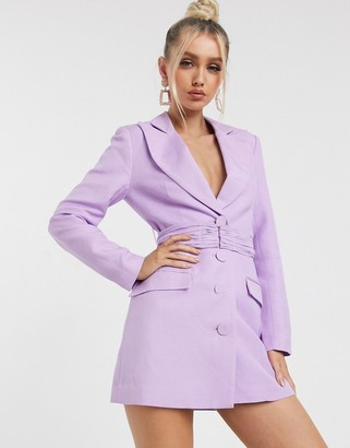 Significant Other dahlia blazer mini dress in lavender