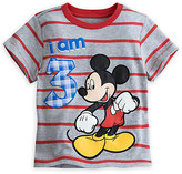 Disney Mickey Mouse ''I Am 3'' Birthday Tee for Boys - Gray