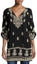 Tolani Eileen Embroidered Ikat Tunic