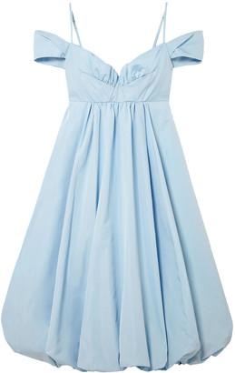 Simone Rocha Bell Cold-shoulder Gathered Taffeta Midi Dress