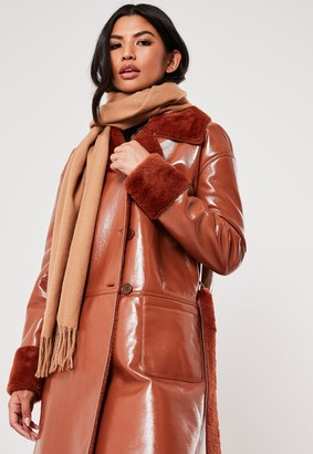 Missguided Camel Blanket Scarf