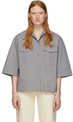 Lemaire Grey Poplin Pocket Shirt