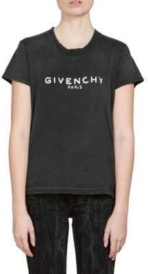 Givenchy Destroyed Logo Cotton T-Shirt