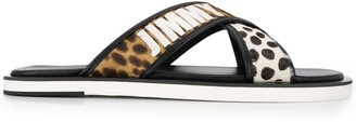 Jimmy Choo Mix Print Leather Sandals
