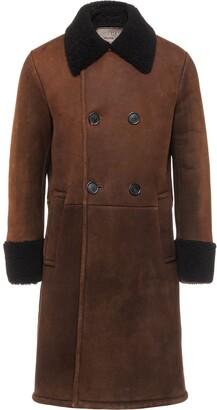 Prada Double-Breasted Sheepskin Coat