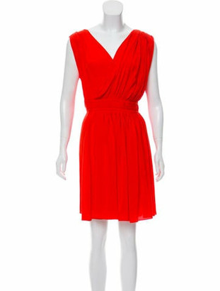 Vionnet Silk Sleeveless Dress w/ Tags Red