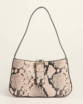 Street Level Snakeskin-Effect Shoulder Bag