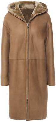 Theory Reversible Shearling Hooded Coat