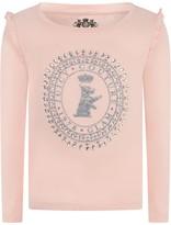Juicy Couture Powder Pink Scottie Long Sleeve Top