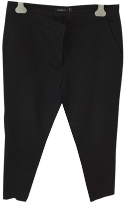 Hallhuber Black Cotton Trousers for Women