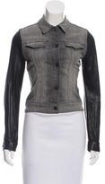 J Brand Long Sleeve Leather Jacket