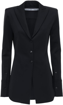 Alexander Wang Fitted Stretch Single Breast Jacket