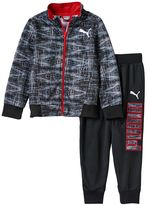 Puma Boys 4-7 Geometric Track Jacket & Logo Jogger Pants Set